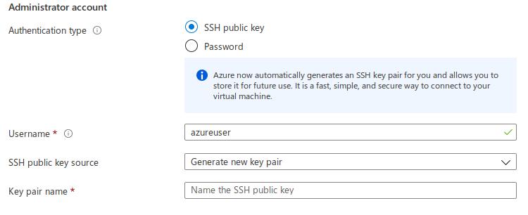 Azure SSH