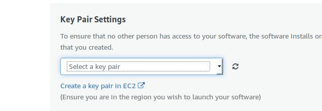 key pair settings