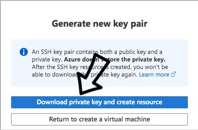 Generate Key Pair for Azure VM